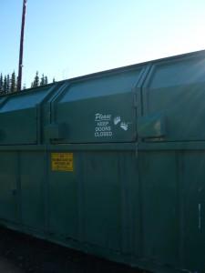 Bear proof dumpster.