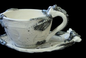 BioIndustrial Baroque Cup and Saucer Set