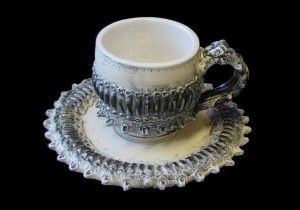 Frilled Gear Cup and Saucer